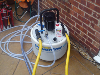 power flush london machine